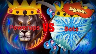 POWERUPS VS BOTS IN AGMA.IO | AGMA IO VERY BIG FIGHT