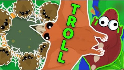 Pterodactyl TROLLING animals by Throwing them into a Poisoned Lake in MOPE.IO
