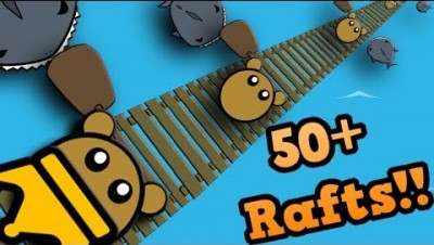 RAAAAFT.IO - LONGEST RAFT EVER!! // 50+ Rafts (Raft Funny Moments)