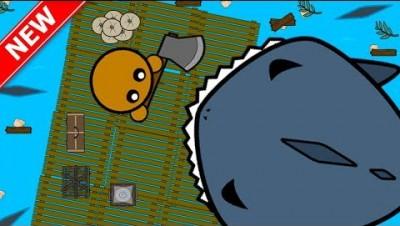 RAAAAFT.IO - NEW SURVIVAL GAME!! // Raft + Starve.io (New .io Game)