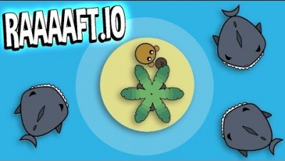 Raaaaft.io - RAFT SURVIVAL GAME - SHARKS EVERYWHERE! - New and Fun IO Game - Raaaaft.io Gameplay
