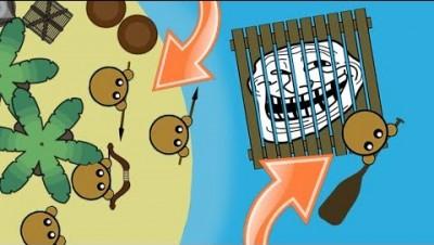 RAAAAFT.IO STEALING TEAMERS RAFT TROLLING! // Funny Trolling Moments in Raaaaft.io