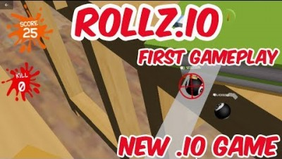 ROLLZ.IO & First Video & Multiplayer Platformer .IO Game