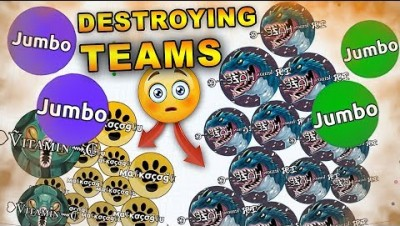 SAD ENDING STORY in Agar.io 8vs1 ( DESTROYING TEAMS SOLO IN AGARIO )
