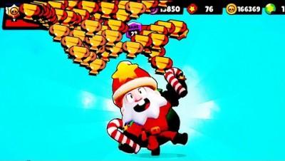 Santa Mike + 650 Trophies in BrawlStars!