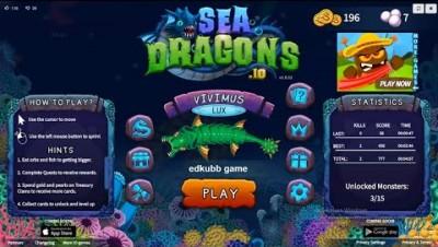 Sea Dragons io. Морской Дракон ио. Новая ио игра 2019.