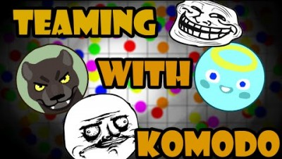 [Seizure Warning!] Teaming with Fox Komodo | Epic Gameplay | Agar.io