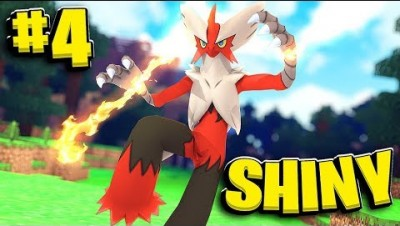 Shiny Max LVL 100 Blaziken (Best DPH) - Minecraft Pixelmon Island SMP- Pokemon Mod #4