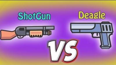 ShotGun vs Deagle Pistol Fortnite.io - Zombsroyale.io