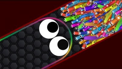 Slither.io 001 Strong Bad Snake Skin Hacked vs. 72227 Snakes Epic Slitherio Gameplay! #3