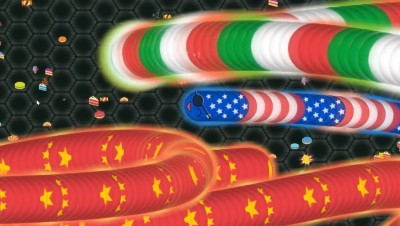 Slither.io Immortal Giant Snake vs Giant Worms // Epic Slither.io Wormax.io Wormate.io Gameplay)
