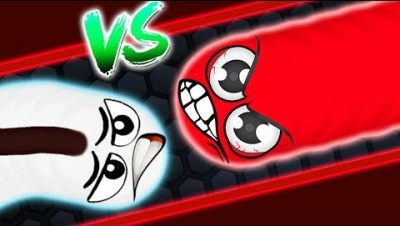 Slither.io - LUCKY vs LEADER in Slither.io Strong Bad Snake Skin Hacked! Epic Slitherio Gameplay!