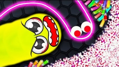 Slither.io - MONSTER vs 95900 LUCKY SNAKES! // Slither.io World Record (Slitherio Funny Moments!)