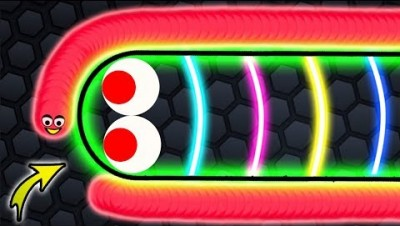 Slither.io - NOOB vs PRO in Slither.io Strong Bad Snake Skin Hacked! Epic Slitherio Gameplay!