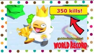 Snowfight.io WORLD RECORD BEST SCORE ( 350 kills )