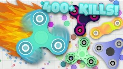 SPINZ.IO - 21999 RPM FIDGET SPINNER! 400+ KILLS! NEW .IO GAME! (Spinz.io Gameplay)