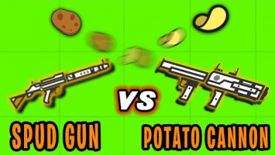 SPUD GUN VS POTATO CANNON! | Surviv.io Potato Update Highlights & Funny Moments