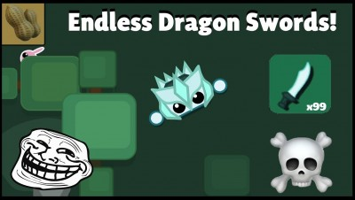Starve.io - Endless Dragon Swords! Trolling & Killing Enemies