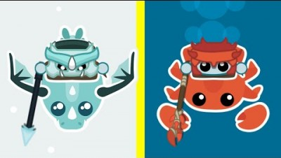 Starve.io How to Ride a New King Crabs and a New Baby Dragon