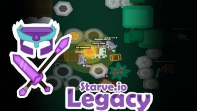 Starve.io LEGACY Mode | Amethyst Gear Gameplay | Garlic And Wheat Bases