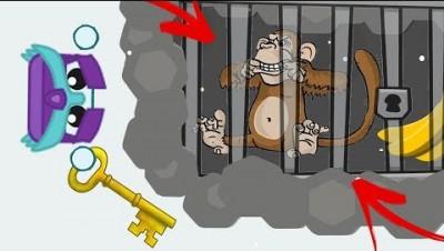 Starve.io - MONKEY SAVAGE IN DRAGON CAVE! (Monkey Documentary)