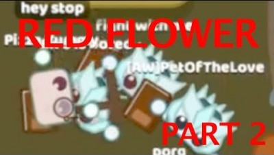 Starve.io RED FLOWER - KILLING DRAGON GEARED PLAYERS PART 2