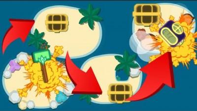 Starve.io SUPER TREASURE HUNTING on 4 COOL ISLANDS!!