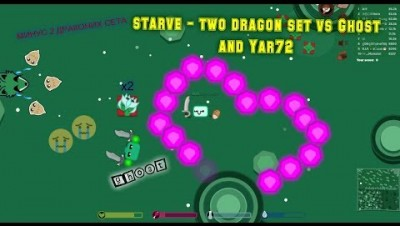 starve.io - two dragon set vs Ghost and Yar72