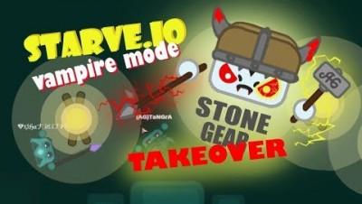 Starve.io Vampire Mode | Stone Gear Vampire Guide To Victory