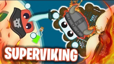 SUPERVIKING DEFEATS PIRATE WITH *VIKINGSHIP* IN STARVE.IO! (Starve io Superplayer)