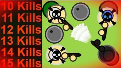 Surviv.io - 10+ Kill Streaks - Complete Domination of the Server (15 Kills)