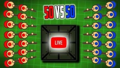 SURVIV.IO 50 vs 50 UPDATE SQUADS WITH FANS LIVESTREAM!!