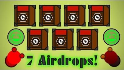 Surviv.io 7 Airdrop In 1 Spot!! Epic Solo Squad Flare Gun Gameplay! (Surviv.io Airdrop Gameplay)