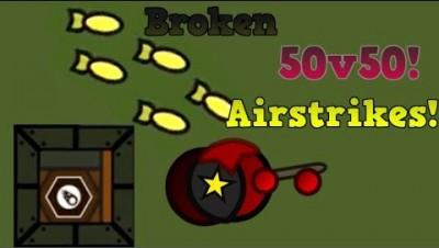 Surviv.io AIRSTRIKES ARE BROKEN!!! + Leader Super 90 Domination! (Surviv.io 50v50 Update)