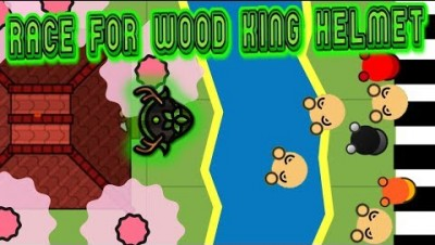 Surviv.io | can I get the wood king helmet? | race to wood king helmet | funny Surviv.io moments! |