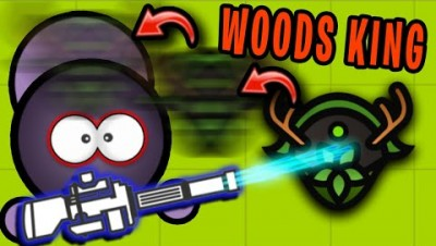 Surviv.io MINIGUN vs WOODS KING HELMET BAIT!! (Survivio Woods Mode Update)