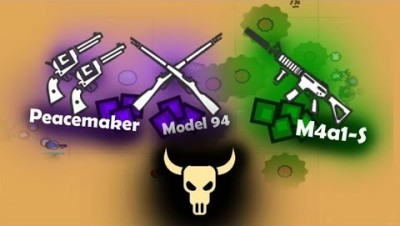 Surviv.io New Model 94 Rifle Desert Biome Peacemaker Revolves M4A1-S QBBx2