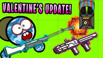 Surviv.io *NEW* MOST POWERFUL CANNONS!! Minigun, M79 & Heart Cannon (Survivio Valentine's Update)