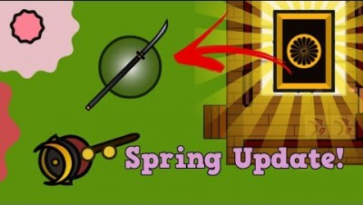 Surviv.io New OP Naginata Knife In Golden Hut Crate!!! Surviv.io Spring Update!