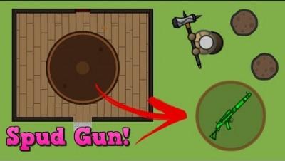 Surviv.io New Spud Gun + AWM Combo is INSANE!!! (Surviv.io Potato Mode + Weapon/Building Update)