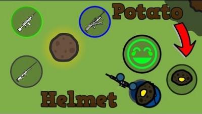 Surviv.io OP Potato Helmet Gives You Insane Loot!!! Potato Mode is Back! (Surviv.io Potato Event)