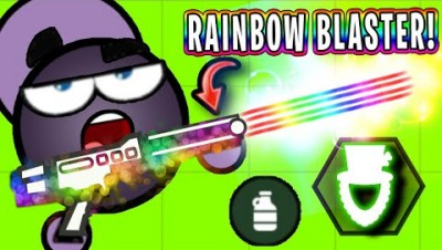 Surviv.io RAINBOW BLASTER vs AIMBOTS! (Survivio St Patrick's Day Update)