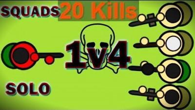 Surviv.io - Squads Update - Soloing in Squads (20 Kills)