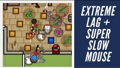 Surviv.io | SUPER SLOW MOUSE + BAD LAG CHALLENGE