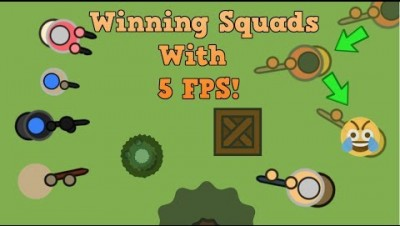 Surviv.io WINNING SQUADS WITH 5 FPS!! Squads With Fans! (Surviv.io Lag Gameplay)