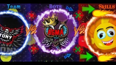 TEAM vs BOTS vs SKILLS in this epic game called Agma.io