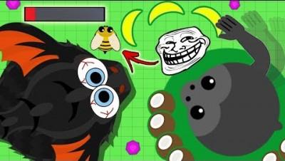 the LUCKIEST gorilla troll in mope.io... jk