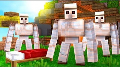 THE MOST OP IRON GOLEM 100x DEFENSE BED WARS - MINECRAFT BED WARS