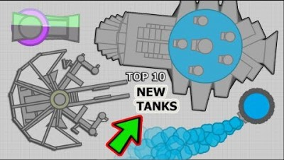 TOP 10 NEW BEST DIEP.IO TANKS !!! (FAN TANK IDEAS #77)