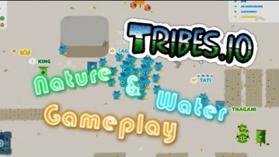 Tribs.io How To Play With Water And Nature Blue And Green Gameplay
